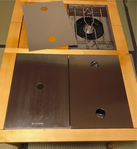 アウトドアー用 グリルテーブル天板